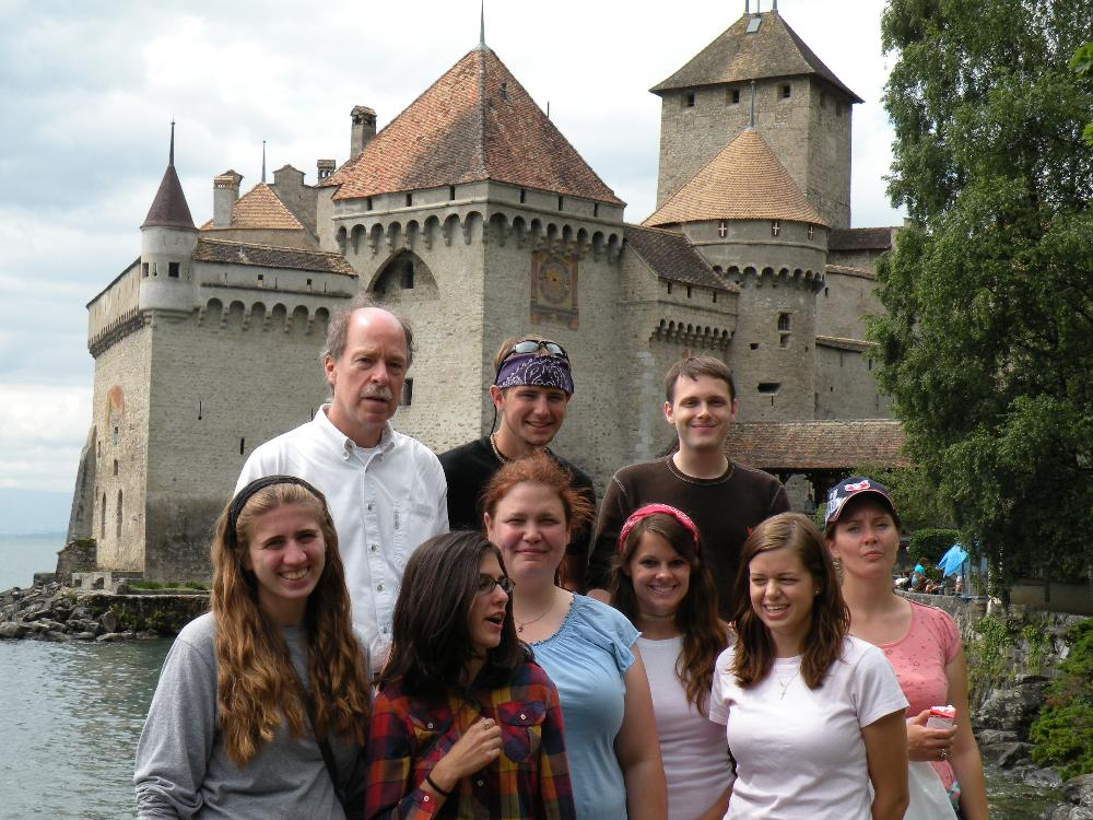 Switzerland w/students castle